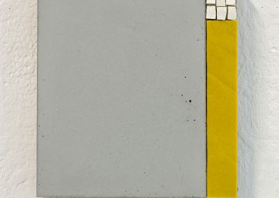 '(In)visible Cities: Reveal II', Piastrina, smalti, Jesmonite, pigment. 16.5x15x3cm. 2016.