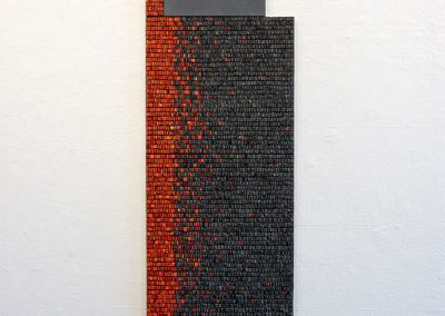 '(In)visible Cities: Reveal III', Smalti, gold leaf smalti, marble, Jesmonite, pigment. 150x41x3cm. 2016.