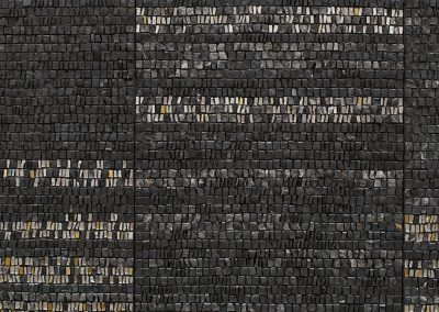 (In)visible Cities Crespucolo (detail). Venetian gold leaf glass mosaic, marble 1.5x1.38m. Photo: Sylvain Deleau.