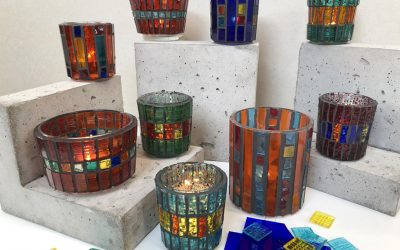 Mosaic Tea-light Holders – September