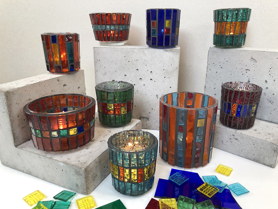 Mosaic Tea-light Holders – September