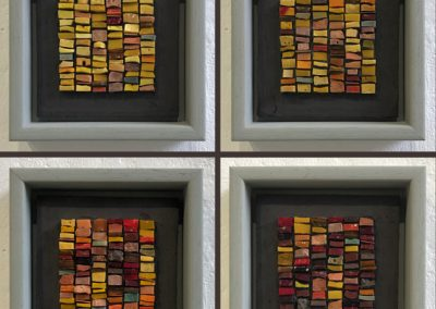 Miniature mosaic tapestries